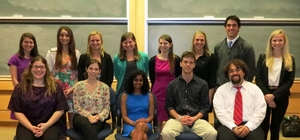 Psychology Senior Project Presenters, Spring 2013