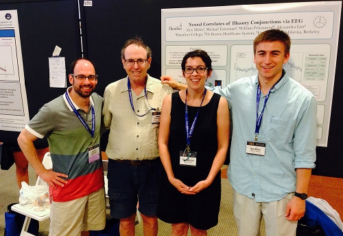 Professor Alex List and Alex Mitko '16 with colleagues at the annual meeting of the Vision Science Society, 2015