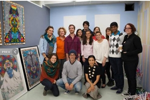 Students and faculty in Saya Woolfalk&apos;s EFA studio<br />Photo: Robert Knight